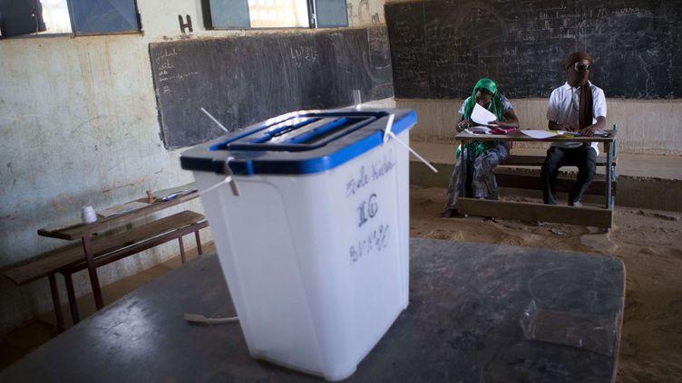 Bureau de vote à Kidal (nord-est) pour la présidentielle au Mali (Rebecca Blackwell/AP/SIPA)