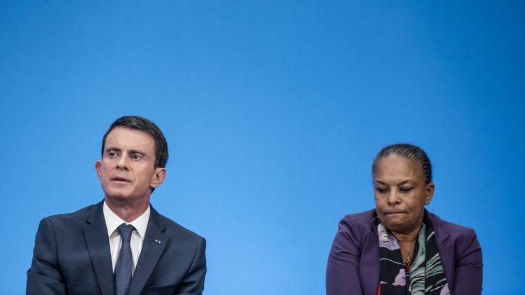 (Manuel Valls et Christiane Taubira le 23 décembre ©maxPPP)