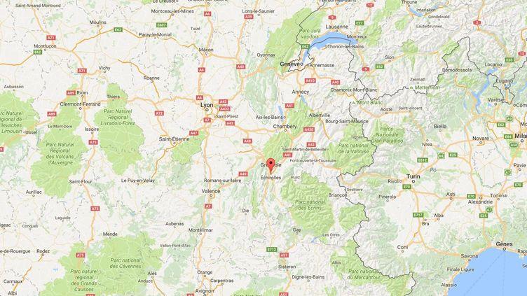 Quatre personnes ont été interpelléesaprès des tirs de kalachnikov à Echirolles (Isère), le 13 septembre 2016. (GOOGLE MAPS)