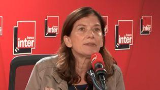 La journaliste du Monde Ariane Chemin lors de son interview sur France Inter, le 30 mai 2019. (CAPTURE D'ECRAN FRANCE INTER / RADIO FRANCE)