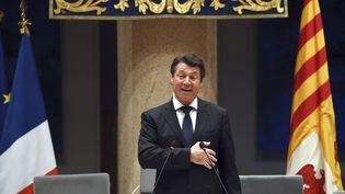Le président Les Républicains de la région Paca, Christian Estrosi, le 18 décembre 2015 à Marseille, après son élection. (ANNE-CHRISTINE POUJOULAT / AFP)