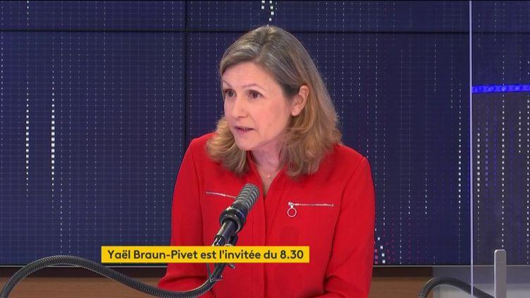 Yaël Braun-Pivet, députée La République en marche, était l'invitée de franceinfo dimanche 25 avril 2021. (FRANCEINFO / RADIO FRANCE)