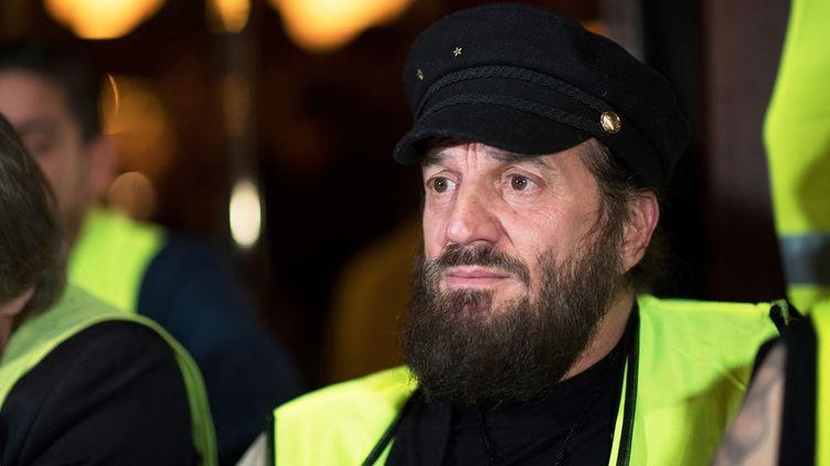 Le chanteur Francis Lalanne, le 17 décembre 2018, lors d'une conférence de presse à Paris. (ERIC FEFERBERG / AFP)