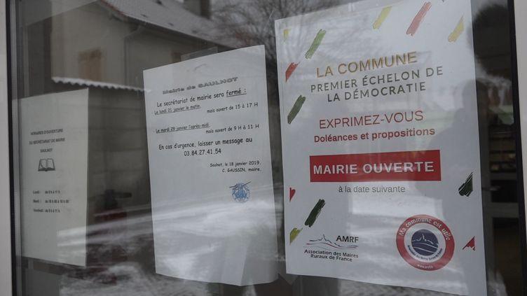 La mairie de Saulnot, en Haute-Saône, le 23 janvier 2019. (BENJAMIN CHAUVIN / RADIO FRANCE)