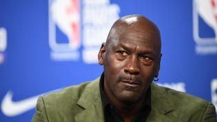 La légende Michael Jordan, propriétaire des Charlotte Hornets (NBA) (FRANCK FIFE / AFP)