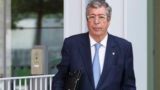 Le maire sortant Patrick Balkany arrive à la cour d'appel de Paris le 22 mai 2019. (- / AFP)