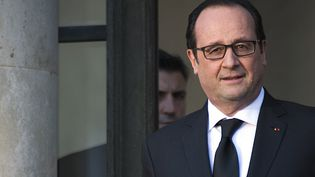 Le président de la République, François Hollande, au palais de l'Elysée, à Paris, le 4 février 2015. (MARTIN BUREAU / AFP)