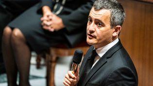 Le ministre de l'Intérieur, Gérald Darmanin, le 6 octobre 2020 à l'Assemblée nationale. (XOSE BOUZAS / HANS LUCAS / AFP)