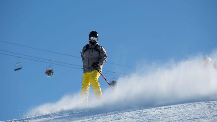 Un skieur à La Plagne en février 2018 (LP/ MATTHIEU DE MARTIGNAC / MAXPPP)
