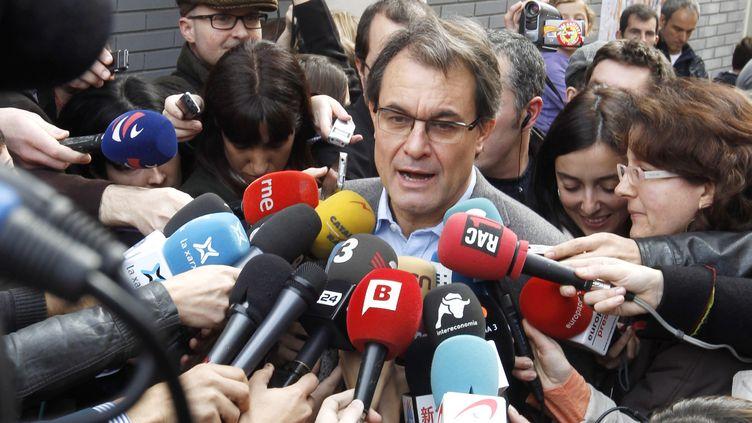 Le chef du parti indépendantiste catalan CiU Artur Mas, le 25 novembre. (© GUSTAU NACARINO / REUTERS / X00435)