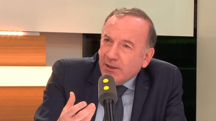 Pierre Gattaz, président du Medef, invité de l'Interview éco, mercredi 22 novembre. (FRANCEINFO / RADIOFRANCE)