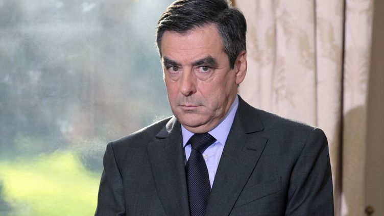 François Fillon, lors de ses vœux à la presse à Matignon, le 9 janvier 2012. (JACQUES DEMARTHON / AFP)