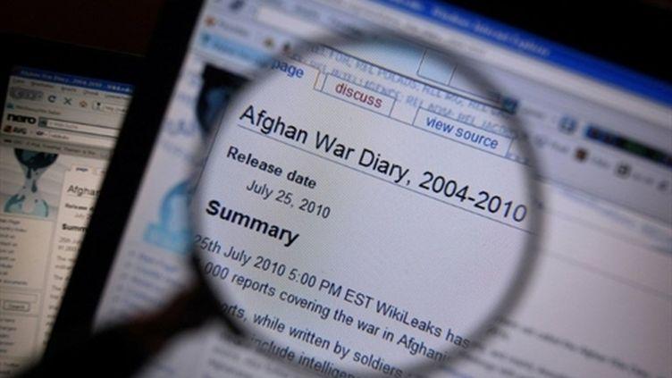"""Le site Wikileaks détient quelque 250.000 """"câbles"""" ou documents secrets dont la publication embarrasse de nombreux pays. (AFP - Karl Josef Hildenbrand)"""