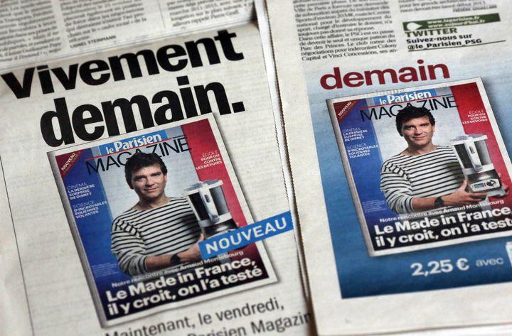 """La une du """"Parisien Magazine"""" du 18 octobre 2012. (THOMAS COEX / AFP)"""