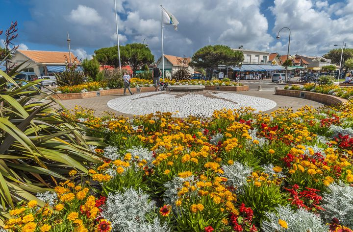 Rond-point fleuri de Gironde.  (Daniele Schneider / Photononstop)