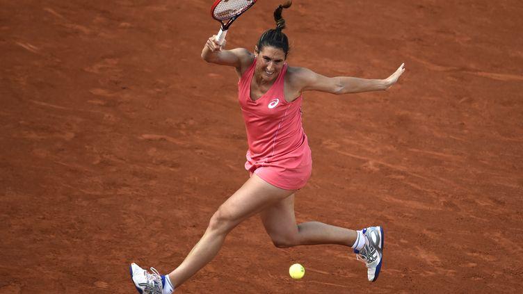 Virginie Razzano quitte Roland-Garros au 2e tour (DOMINIQUE FAGET / AFP)