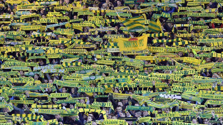 Les supporters du FC Nantes. (GEORGES GOBET / AFP)