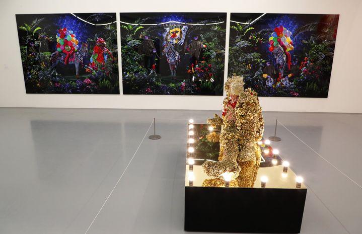 Une installation de l'artiste sud-africain Athi-Patra Ruga au nouveau Zeitz-MoCAA Museum du Cap  (Nic Bothma / EPA / MaxPPP)