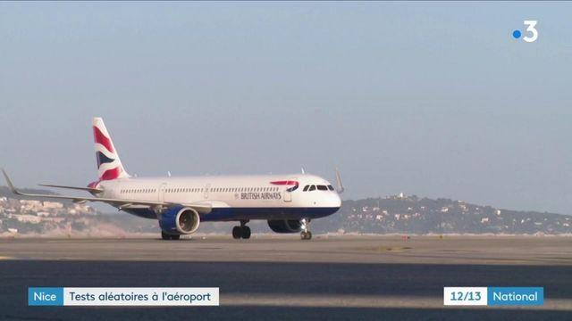 Covid-19 : des tests PCR sont effectués à l'aéroport de Nice