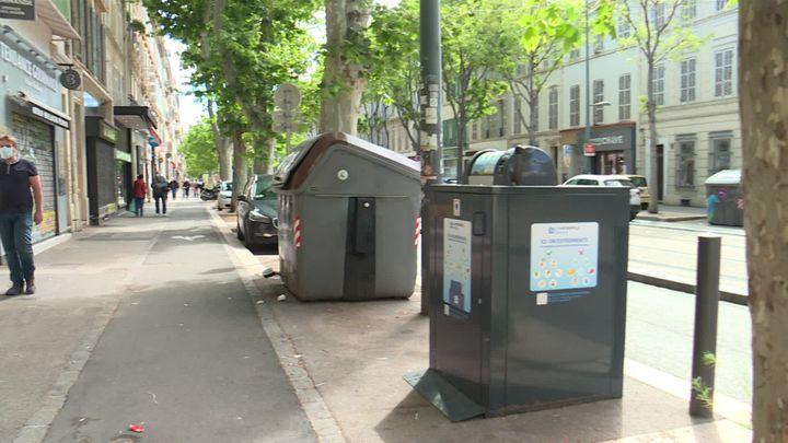Abris Bacs des Alchimistes pour collecter les déchets dans le centre-ville de Marseille (France 3 Provence Alpes)