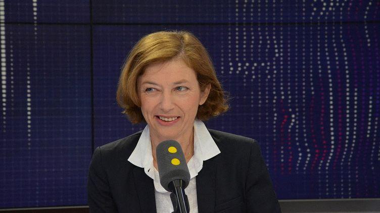 La ministre des Armées, Florence Parly, invitée de franceinfo. (JEAN-CHRISTOPHE BOURDILLAT / FRANCEINFO)
