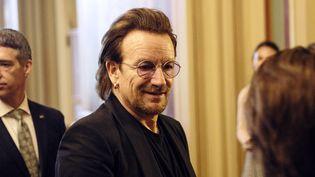 Bono, le leader de U2, au Capitole à Washington, le 19 juin 2018.  (ALEX WROBLEWSKI / GETTY IMAGES NORTH AMERICA / AFP)
