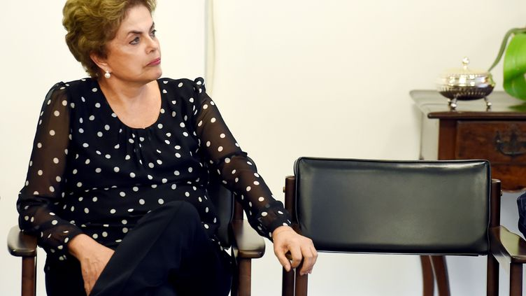 La présidente brésilienne Dilma Rousseff, le 13 avril 2016, à Brasilia. (EVARISTO SA / AFP)