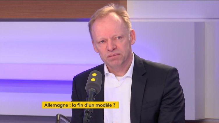 L'économiste allemand Clemens Fuest le 8 mars 2019 sur franceinfo. (FRANCEINFO / RADIOFRANCE)