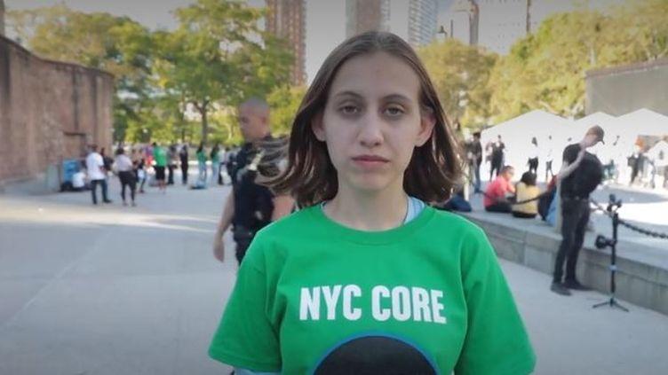 À seulement 14 ans, l'AméricaineAlexandria Villasenorest déjà une figure dans la lutte contre le réchauffement climatique. (france info)
