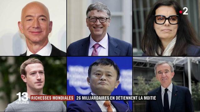 Inégalités : 26 milliardaires possèdent plus de richesses que la moitié des humains