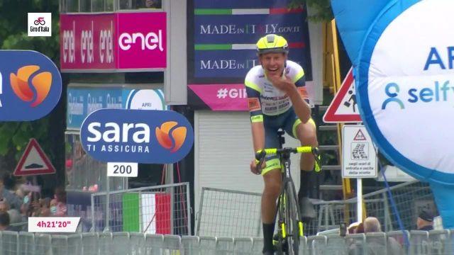 Le Néerlandais Taco Van Der Hoorn (Intermarché-Wanty Gobert) a remporté en solitaire la 3e étape du Tour d'Italie devant le peloton, entre Biella et Canale (190km).