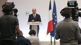 Le Premier ministre français Jean Castex en conférence de presse, jeudi 3 septembre 2020. (AFP)