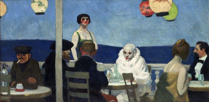 Edward Hopper, Soir Bleu, 1914, New York, Whitney Museum of American Art, Josephine N.Hopper Bequest  (Heirs of Josephine N. Hopper, licensed by the Whitney Museum of American Art)