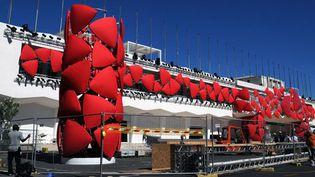 Derniers préparatifs autour de l'entrée du Lido, à Venise (27/8/2012)  (Tiziana Fabi / AFP)