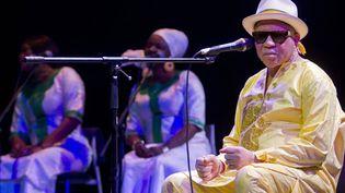 Salif Keita sera en concert samedi à Paris (ici à Mérida, Mexique, le 20 octobre 2015)  (Hugo Borges / Notimex / AFP)
