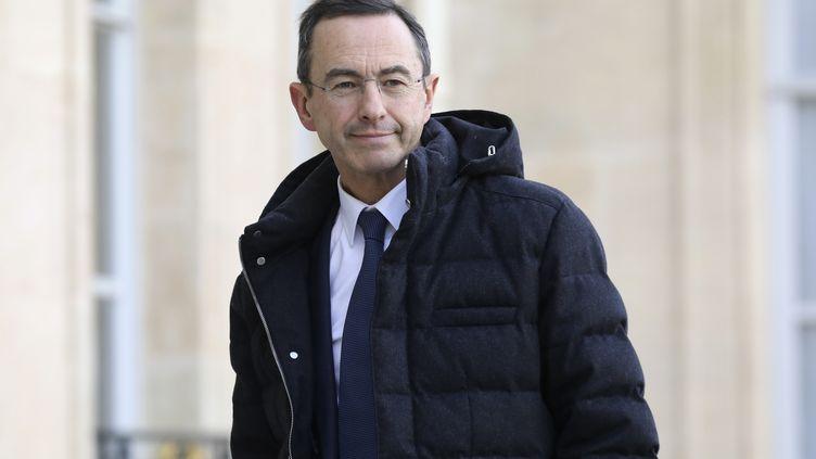 Bruno Retailleau, président du groupe Les Républicains au Sénat, dans la cour de l'Élysée, le 5 février 2019. (LUDOVIC MARIN / AFP)