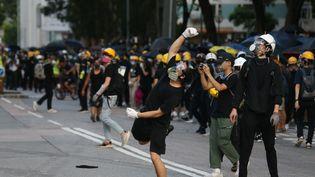 Des manifestants lors de la grève générale à Hong Kong, le 5 mai 2019. (EYEPRESS NEWS)