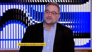 Joseph Bahout sur franceinfo le 16 janvier 2020. (FRANCEINFO)