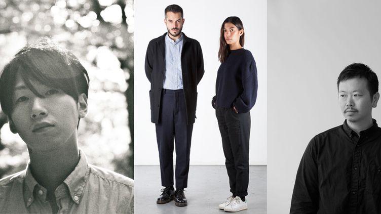 Masanori Morikawa (gauche), Avoc (milieu), White Mountaineering (droit) intégrent le calendrier officiel de la fashion week masculine présentant l'automne-hiver 2016-17, à Paris  (Yuya Wada (White Mountaineering))