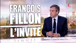 François Fillon, le 5 mars 2017 sur le plateau du 20 heures de France 2. (FRANCE 2)