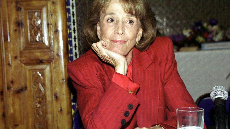 L'avocate Gisèle Halimi le 10 Mars 2000 à Rabat. (MAXPPP)