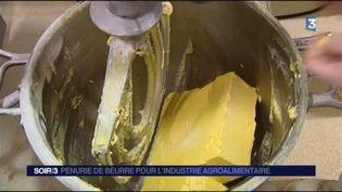 Une pénurie de beurre frappe l'industrie agroalimentaire. (FRANCE 3)