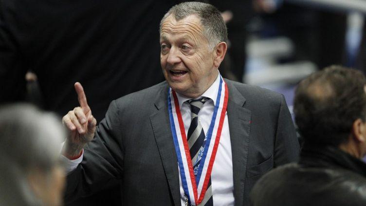 Jean-Michel Aulas, le président de l'OL. (KENZO TRIBOUILLARD / AFP)