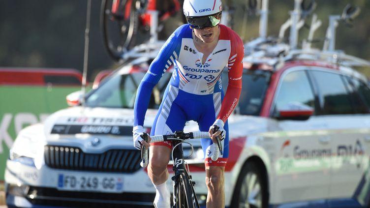 David Gaudu, le coureur de la Groupama-FDJ. (MIGUEL RIOPA / AFP)