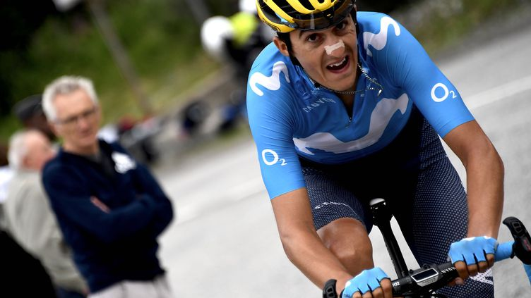 Marc Soler remporte son premier succès d'étape sur un grand tour (JEFF PACHOUD / AFP)