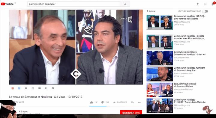 Un photomontage de Larry Silverstein apparaît furtivement dans le coin inférieur gauche de la vidéo lorsque le Raptor Dissident évoque le journaliste Patrick Cohen. (RAPTOR DISSIDENT)