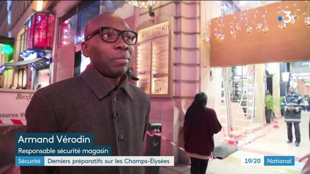 Sécurité : dernier préparatifs sur les Champs-Elysées