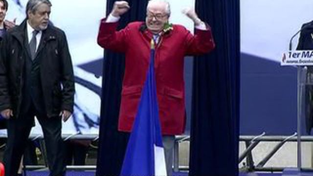 FN : Jean-Marie Le Pen perturbe le 1er mai de sa fille