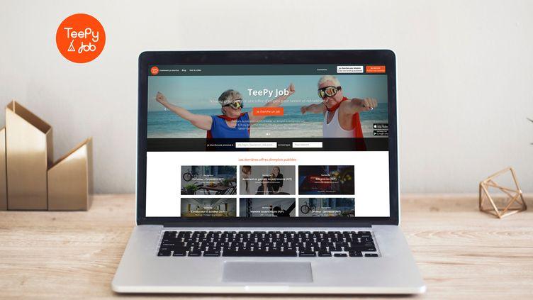 Teepy Job est une plateforme de recrutement pour les seniors (MOCKUP)