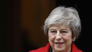 La Première ministre britannique Theresa May, le 15 novembre 2018 devant le 10 Downing Street à Londres. (TOLGA AKMEN / AFP)